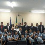 Alunos do 1ª Ano do Ensino Médio do Colégio Militar visitam a Câmara Municipal de Araguaína