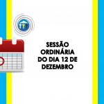 Sessão Ordinária do 12 de Dezembro