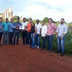 Vereadores visitam área que poderá ser construída a nova sede do Poder Legislativo