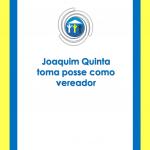 Joaquim Quinta toma posse como vereador