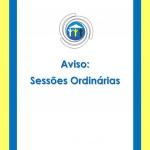 Sessões Ordinárias dos dias 8 e 9 são remarcadas.