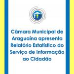 Relatório estatístico do serviço de informação ao cidadão da Câmara Municipal de Araguaína